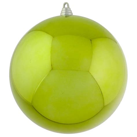 lime green baubles shiny shatterproof single 250mm