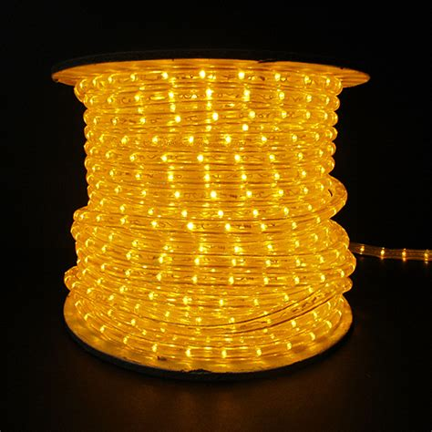 yellow led rope light white wire 150 spool holiday leds