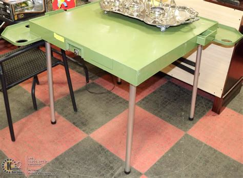 folding table with drink holders folding table with drink holder and chip drawers