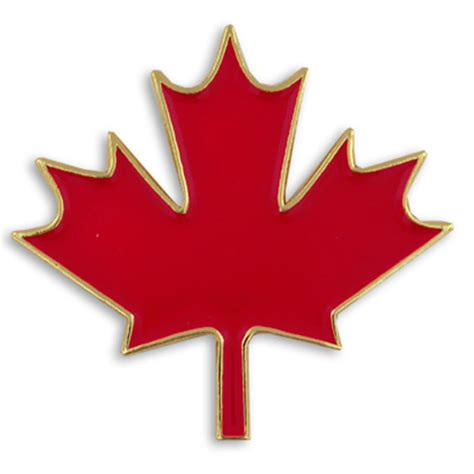Maple Pin pinmart s canadian maple leaf canada enamel lapel pin