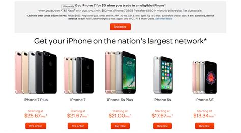 iphone verizon deals verizon and at t jockeying for subscribers offer free iphone 7 deals