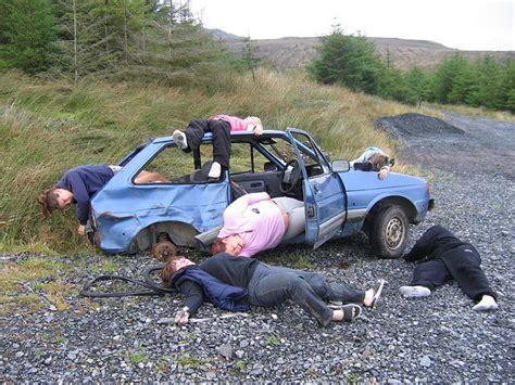 wrecked car strange and unusual car wrecks car wreck photos