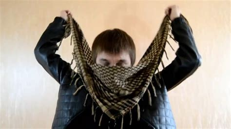 how to tie a shemagh arafat afghan scarf