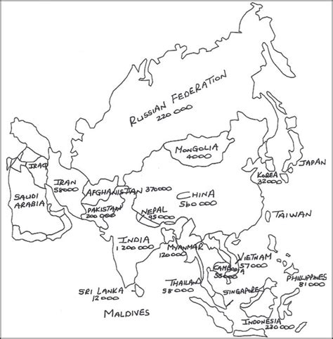 printable map coloring page best photos of asia map coloring page blank asia map