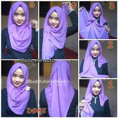 tutorial hijab segitiga untuk lebaran tutorial hijab segi empat untuk sehari hari jilbab