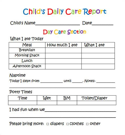 daily report      sample templates