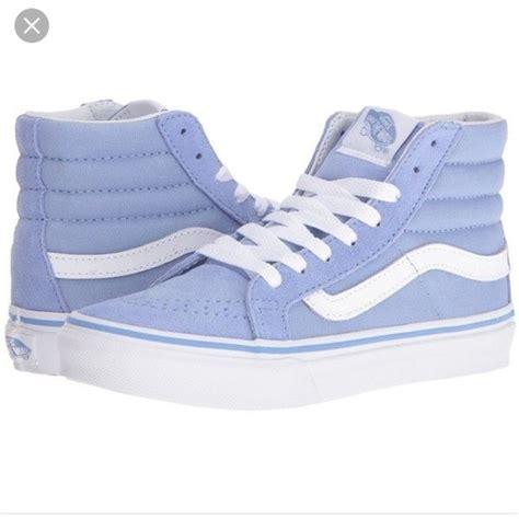 light blue high tops vans shoes light blue high tops poshmark