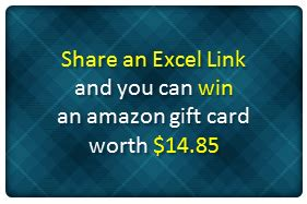 share an excel link and win 14 85 gift card from amazon chandoo org learn - Amazon Gift Card Exle
