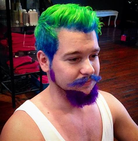 guys colored hair cool mohawk undercut haircut with dyed hair best