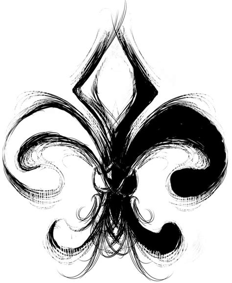 fleur de lis tattoo designs black and white fleur de lis design