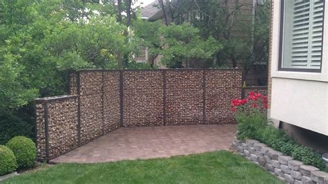 gabion privacy wall eclectic landscape salt lake city by omg landscape and garden services