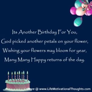 Inspirational Quotes Birthday Wishes Inspirational Birthday Messages Quotes Quotesgram