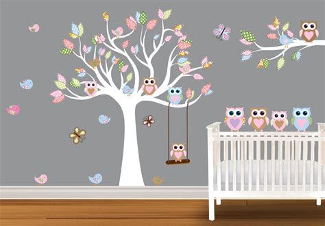 Owl Nursery Wall Decals Etsy Your Place To Buy And Sell All Things Handmade Vintage And Supplies