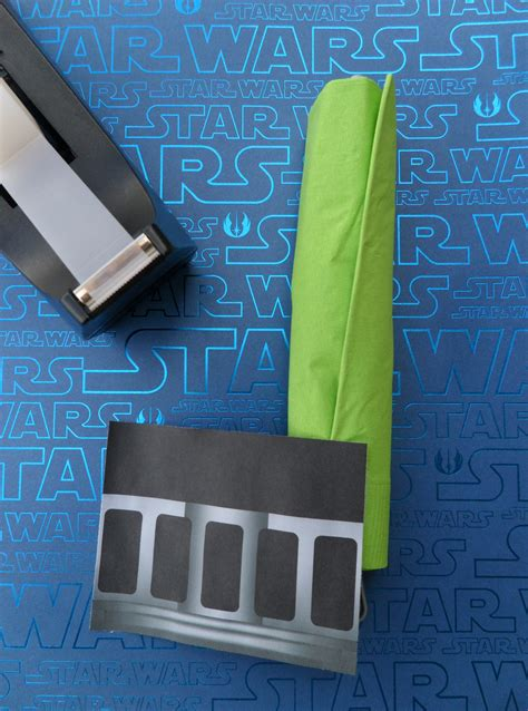 printable star wars napkin rings diy tutorial how to make lightsaber napkin wraps for