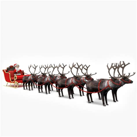 where to buy a sled and reindeer for the roof of your house 3d santa s sleigh reindeer model