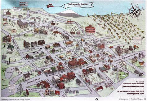 map of jacksonville oregon jacksonville oregon map oregon map