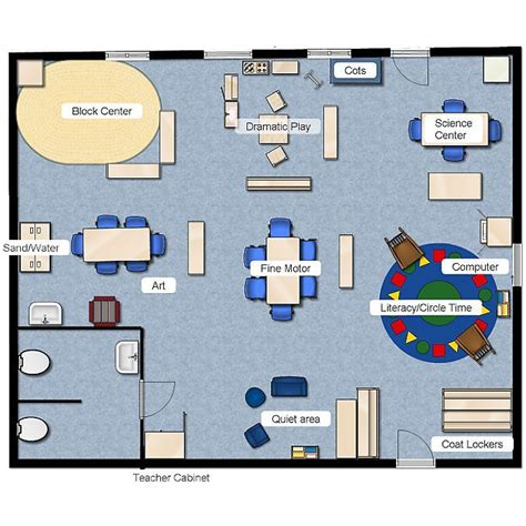 floor plan for preschool preschool class layout pinteres