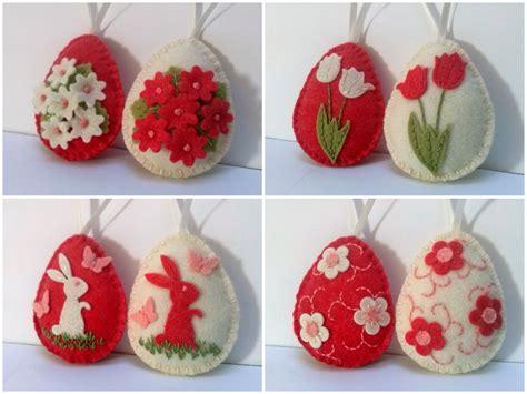 Felt Decor by Felt Easter Decoration Felt Egg With Bunny Or Flowers
