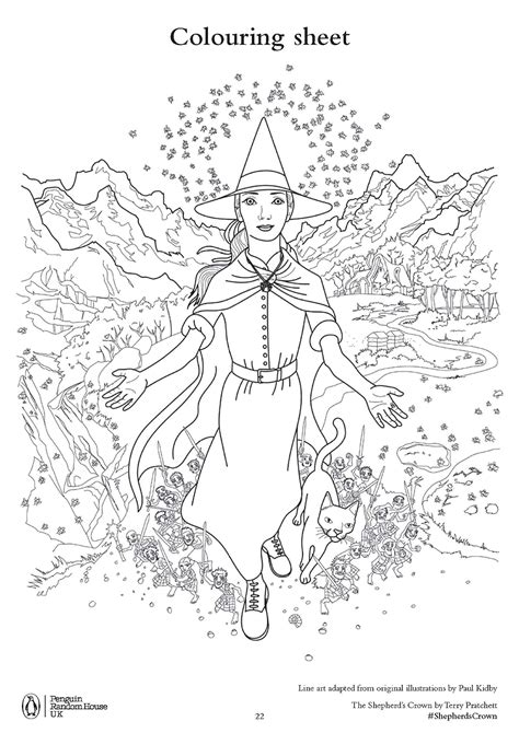 terry pratchett s the shepherd s crown free colouring