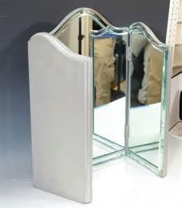 Tri Fold Vanity Mirror Vintage Regency Tri Fold Vanity Mirror At 1stdibs