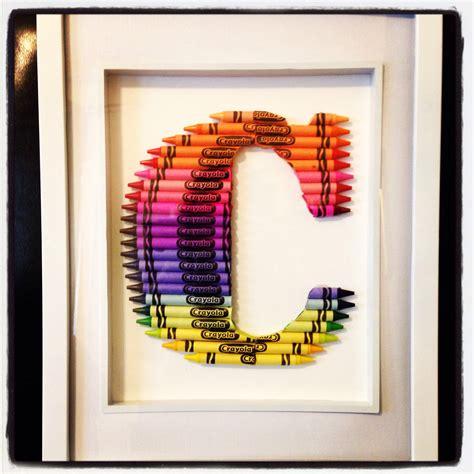 Handmade 1st Birthday Gifts - birthday gift diy crayon monogram craft ideas