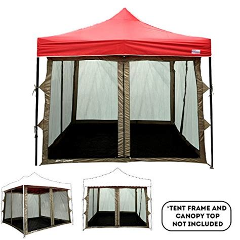 ez up screen room screen room attaches to any 10 x10 easy up pop up screen tent room 4 walls mesh ceiling pvc