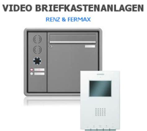 Offizieller Brief Anlage Briefkasten Mit Sprechanlage Renz Und Fermax G 252 Nstig Kaufen