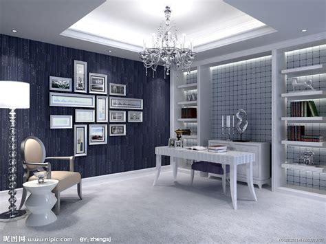 interior design for new construction homes 欧式书房设计图 室内设计 环境设计 设计图库 昵图网nipic