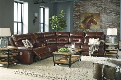 buy ashley furniture bancker  pcs  sienna leather