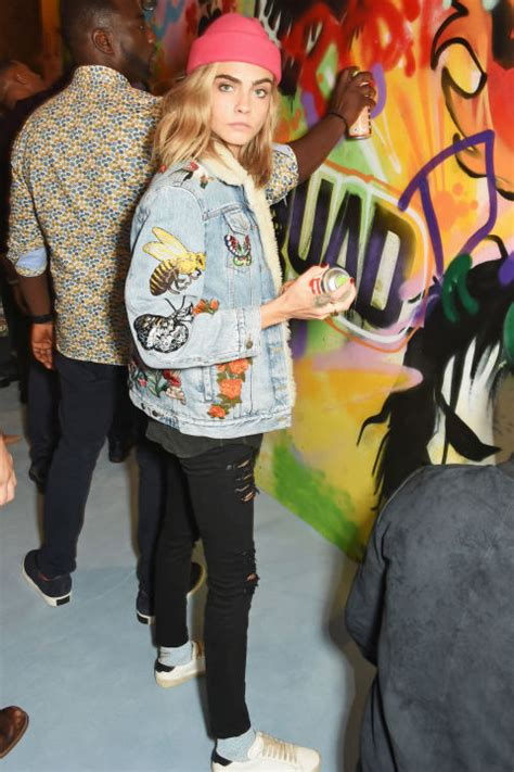 Skwad Jacket From Squad cara delevingne and margot robbie squad promo tour squad press tour