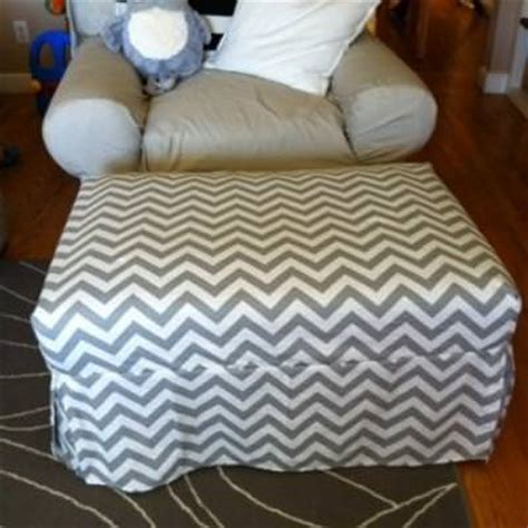how to make ottoman cover easy diy chevron ottoman slipcover slipcover tip junkie