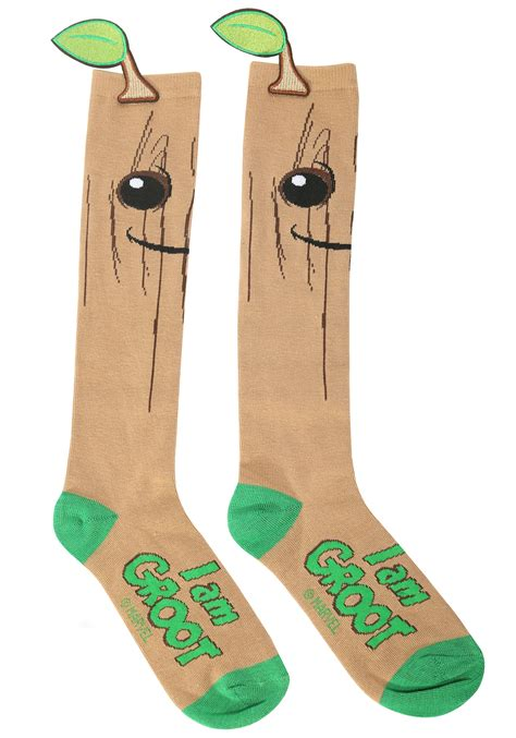 I Am Groot Guardians Of The Galaxy i am groot guardians of the galaxy knee high socks