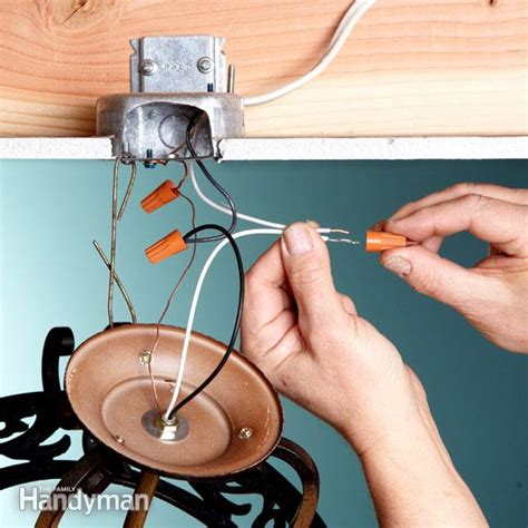 Wiring For Light Fixture Electrical Tips Replacing A Light Fixture The Family Handyman