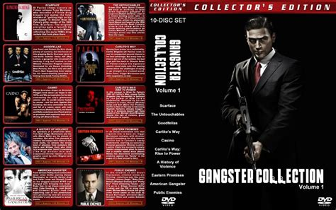gangster ultimate film collection gangster collection vol 1 movie dvd custom covers