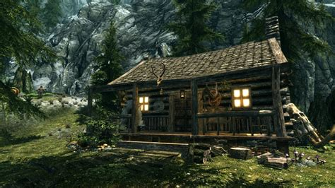 Hunters Cabin by S Cabin Of Riverwood At Skyrim Nexus Mods And