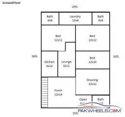 House Map Design 30 X 30 by 30x60 Non Corner Ground Floor Layout Plan 207222
