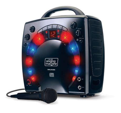 karaoke with disco lights singing machine sml283bk disco light karaoke machine