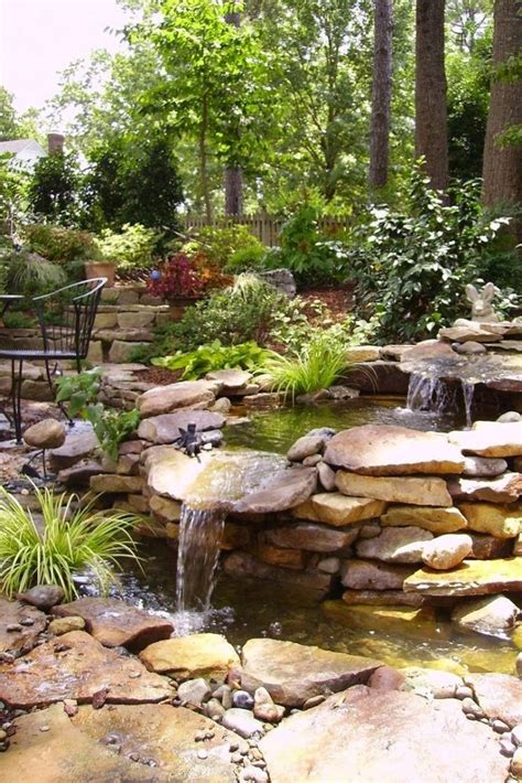 waterfall designs for backyards top 17 brick rock garden waterfall designs start an