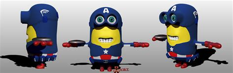 captain america minion wallpaper minions captain america by vrt02 on deviantart