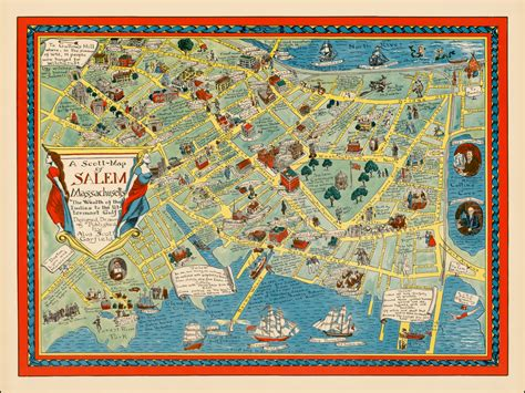 salem usa map a map of salem massachusetts the wealth of the