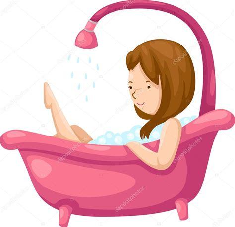 woman bathtub mujer ba 241 225 ndose en ba 241 era vector de stock 169 jehsomwang