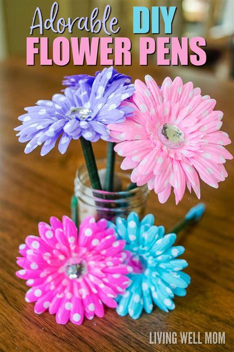 homemade flowers how to make flower pens simple diy gift idea