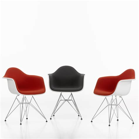 Plastic Armchairs Vitra Eames Plastic Armchair Dar Upholstered