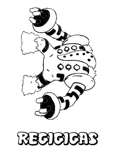 pokemon coloring pages regigigas regigigas coloring pages hellokids com