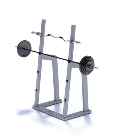 Weight Rack With Weights by Squat Rack With Weights 3d Model Cgtrader