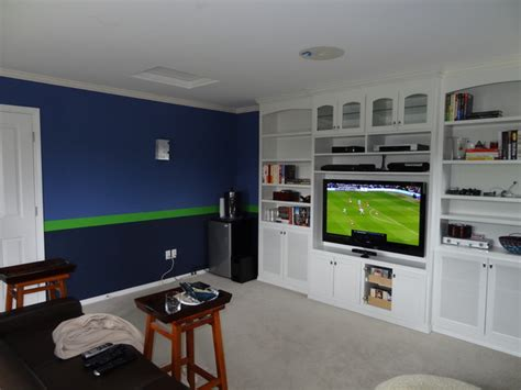 sport theme room graphic stripes contemporary home theater seattle by painting america inc