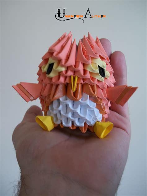 3d Origami Owl - 3d origami owl by jobe3do on deviantart