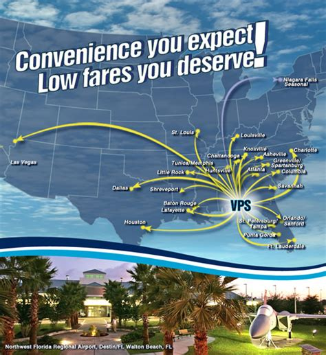 northwest florida regional airport more direct flights destin florida things to do