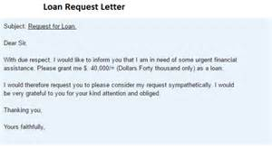 Loan Letter Request Loan Request Letter Writing Professional Letters