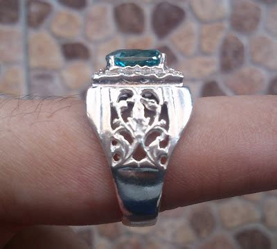 Cincin Single Perak J 01 Permata Cubic Zirconia Exclusive permata murah sokmo cincin permata zircon biru asli